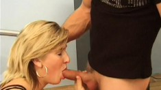 A lesbian girl gets some rough punishment from a well hung man
