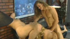 Christi Lake gets nailed by a bunch of guys and swallows their juices