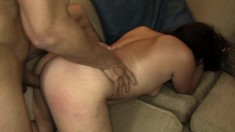 Gorgeous brunette with a massive ass gets fucked raw in a POV video