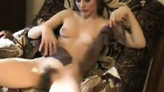 Isolda Has A Nylon Fetish And Keeps Them On While Fingering Her Snatch