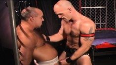 Muscled Stud Has A Hard Stick And A Big Dildo Punishing His Fiery Ass