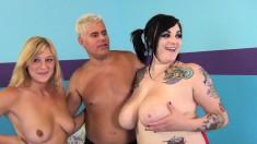 Bridgette B, Scarlett LaVey and Ashden fuck and suck a couple of cocks