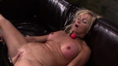 Enticing Blonde With Big Boobs Dani Dare Explores Her Bondage Fantasy
