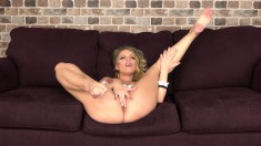 Big breasted blonde delivers a perfect blowjob and begs to be stuffed