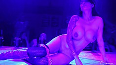 In the strip club, Tera puts on a great show and reveals the perfect curves of her body