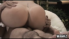 She's back on top and bouncing her hot ass up and down on him