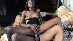 Formful black lassie is getting her big coochie in real danger