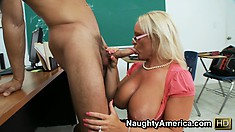 Alexis Golden gets rammed by this dick wielding dude with a fleshy dagger