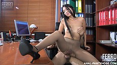 Charming Mima A gets charming anal education with hot dude Frederic