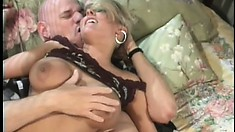 Blonde broad with a tight cunt gets eaten out and fucked hard