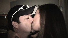 Interracial college chicks make out and go wild at a frat party