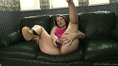 Three inviting squirters get into all-girl anal plowing action