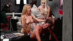 Two fetish loving trannies torture and whip their little brunette slave