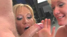 Bailey and Teena release their juices and reveal their blowjob skills
