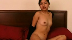 Teana Tsoi is eager to slowly undress and get you incredibly hard