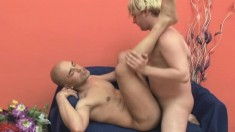 Delightful gay hunk finds comfort and pleasure in hardcore anal sex