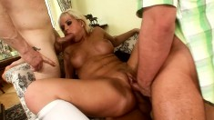 Stacked Blonde Teen With A Wonderful Booty Fucks Three Cocks At School