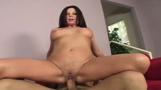 Voluptuous milf Magdalene has wild sex with the poolboy on the couch