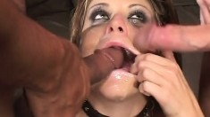 Bukkake Facial Cumshot Sperm Eating