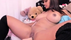 Beautiful Eufrat strips and shows her big boobs and nipples