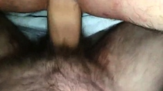 My friend cums on and in my asshole I sucked it ass to mouth