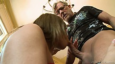 After meeting his busty new angel, Christoph gets right down to anal business