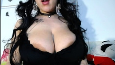 Sexy webcam brunette with big boobs