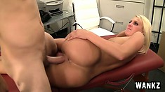Sensual blonde with a divine ass gets fucked by her boss in the office
