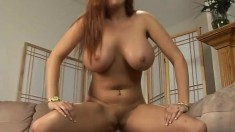 Filthy MILF with a stunning rack can't wait to ride a throbbing cock