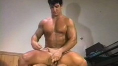 Muscular blonde loves pounding his boyfriend's tight butthole